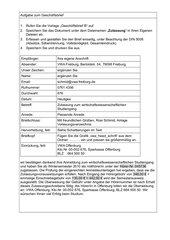 Geschäftsbrief mit Infoblock, Klassenarbeit