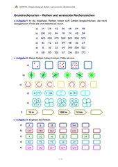 Grundrechenarten - Reihen und versteckte Rechenzeichen