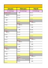 Excel Wandkalender