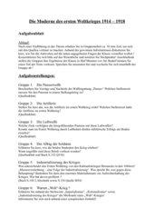 2 ABs: Die Moderne des ersten Weltkrieges 1914/18