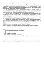 Absolutismus - Versuch einer Begriffsbestimmung