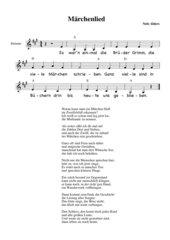 Lied zu den Märchenmerkmalen