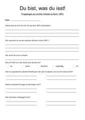 Fragebogen zur ersten Stunde in der Koch-AG