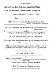 Bayern zur Zeit Napoleons und des Wiener Kongresses