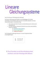 Lineare Gleichungssysteme - ein Merkblatt