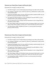 Wiener Kongress und Deutscher Bund - Wissenstest