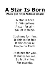 A Star Is Born--impressive song about evanascence & eternity