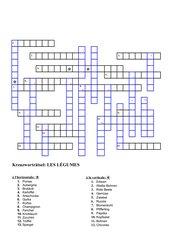 Kreuzworträtsel: LES LÉGUMES