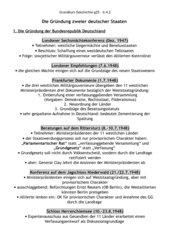 Die Gründung der Bundesrepublik Deutschland