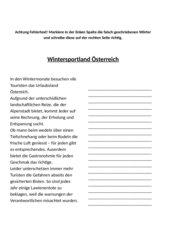 Fehlertext - Wintersportland Österreich