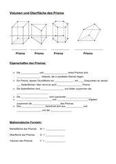 Volumen und Oberfläche von Prismen