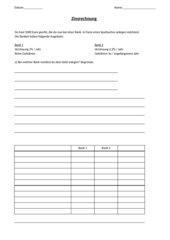 Aufgabe zur Zinsrechnung - Einführung