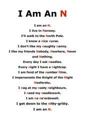 I Am An N - creative poem