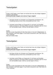 Textaufgaben Kl. 3