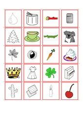 Wort-Bild-Zuordnung mit besonderen Buchstaben/Lauten (Teil 2)