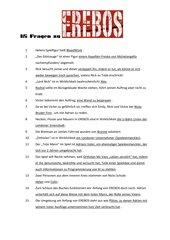 EREBOS - 15 Fragen zum Buch