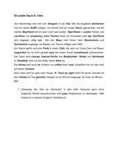 Text mit zahlreichen Anglizismen