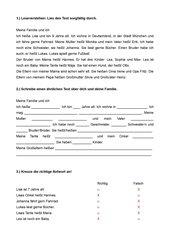 DaF Test  (Niveau A1-A2)