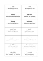 Wortumschreibungsspiel Wiederholung Englisch Kursstufe (BW)