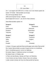 Lesetext zur Fußball-EM 2012