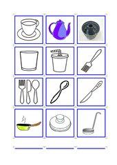 Memo-Spiel / Zuordnungsspiel  *Küche-Haushalt*