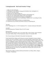 Leistungskontrolle Brief formlose Vorlag