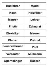 Pantomime-Kärtchen (deutsch)