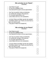 Plakatgestaltung Checkliste (zu Plakatgestaltung Bewertungsraster)