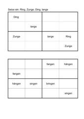 Sudoku - Wörter mit ng