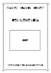 Der kleine Lord - Lesetagebuch mit Bearbeitung
