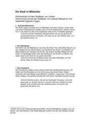 Stadt im Mittelalter: Arbeitsblatt Stadtplan