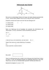 AB: Beweis des Höhensatz von Euklid