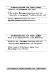 Partnerinterview Thema Daten Klasse 5