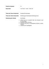 Einführung Buchstabenverbingung Eu/eu Kl. 1
