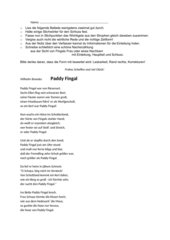 Klassenarbeit  Ballade