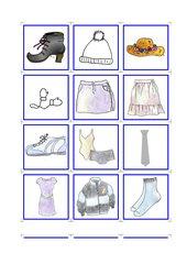 Memo-Spiel / Zuordnungsspiel *Kleidung*