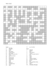Kreuzworträtsel zu New Highlight 2, unit 2