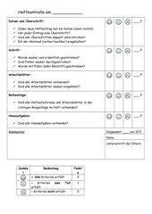 Checkliste Heftkontrolle