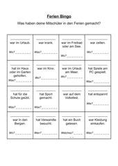 Ferien Bingo