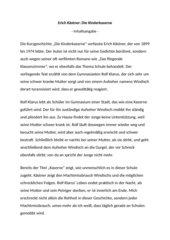 Erich Kästner: Die Kinderkaserne