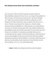 Anfang und Ende einer Geschichte schreiben