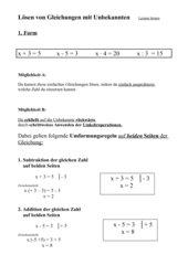 Lösen von Gleichungen