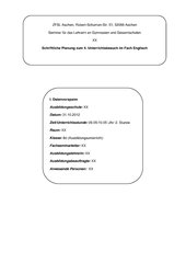Unterrichtsbesuch zur Kurzgeschichte Ruthless (DeMille), Methode Thinking hats (deBono)