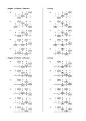 Klapptest-Generator: Schriftliches Addieren und Subtrahieren