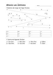 messen und zeichnen in cm und mm