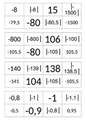 Ganze Zahlen, Übungen zur Anordnung, mit Beträgen