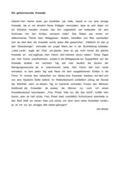 Diktat - Klasse 6 - Schwerpunkt: Zeichensetzung