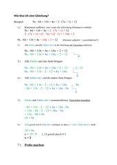 Musteranleitung: Wie löse ich eine Gleichung?
