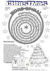 Christmas Word Spiral