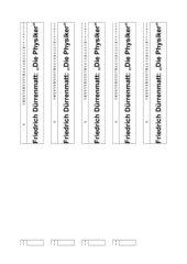 Dürrenmatt - Die Physiker - Lesezeichen mit Zeilenangaben